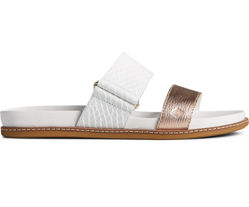 Waveside PLUSHWAVE Slide Sandal, White, dynamic