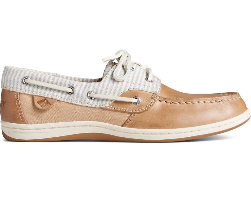 Koifish Linen Stripe Boat Shoe, Linen, dynamic