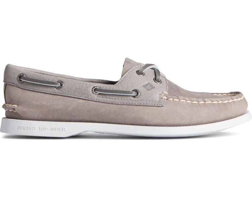 Authentic Original Tonal Leather Boat Shoe, Grey, dynamic