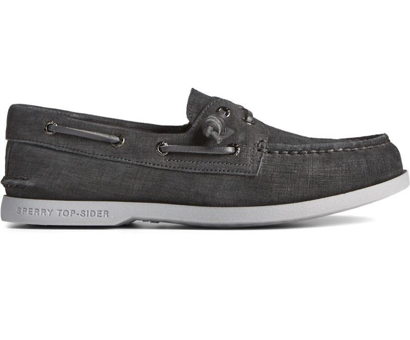 Authentic Original 2-Eye PLUSHWAVE Checkmate Boat Shoe, Black, dynamic