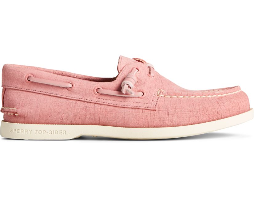 Authentic Original 2-Eye PLUSHWAVE Checkmate Boat Shoe, Dusty Rose, dynamic