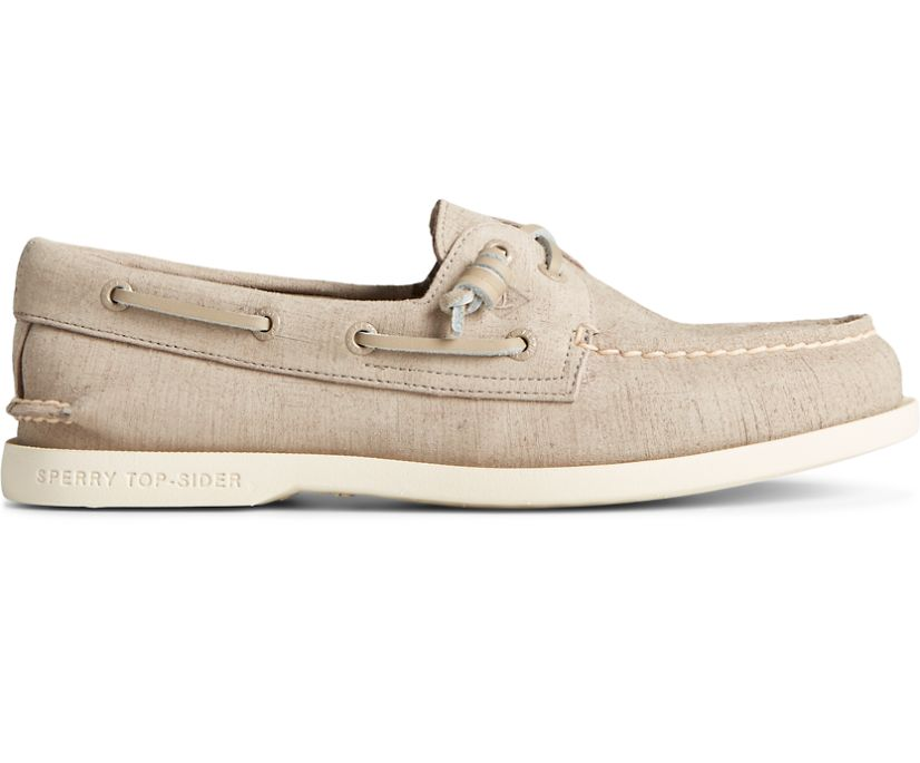 Authentic Original 2-Eye PLUSHWAVE Checkmate Boat Shoe, Taupe, dynamic
