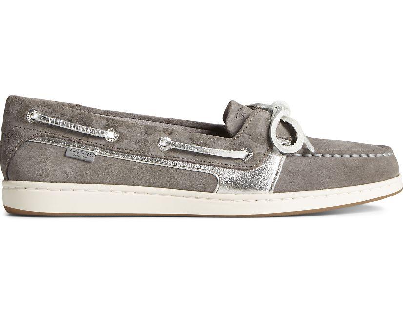Starfish Cheetah Boat Shoe, Grey, dynamic