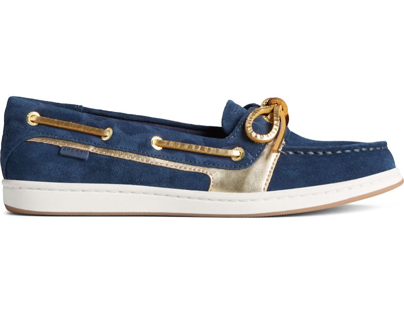 Starfish Cheetah Boat Shoe, Navy, dynamic