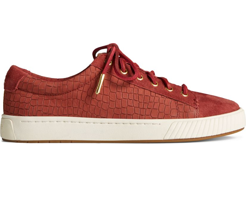 Anchor PLUSHWAVE Croc Leather Sneaker, Maroon, dynamic
