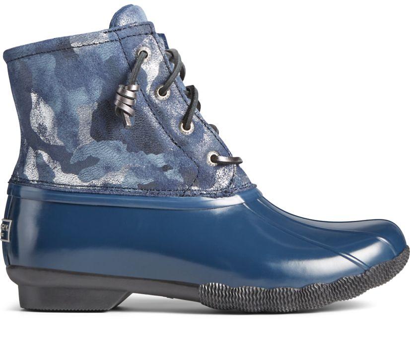 Saltwater Metallic Camo Duck Boot, Blue, dynamic