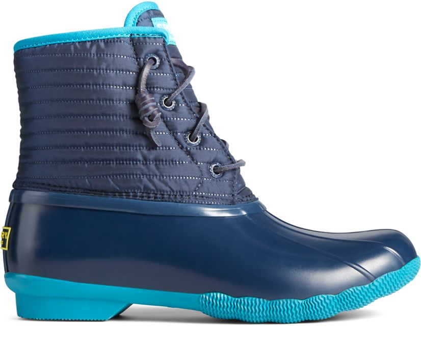 Saltwater Puff Nylon Quilted Duck Boot, Navy, dynamic