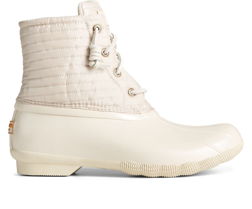Saltwater Puff Nylon Quilted Duck Boot, Ivory, dynamic