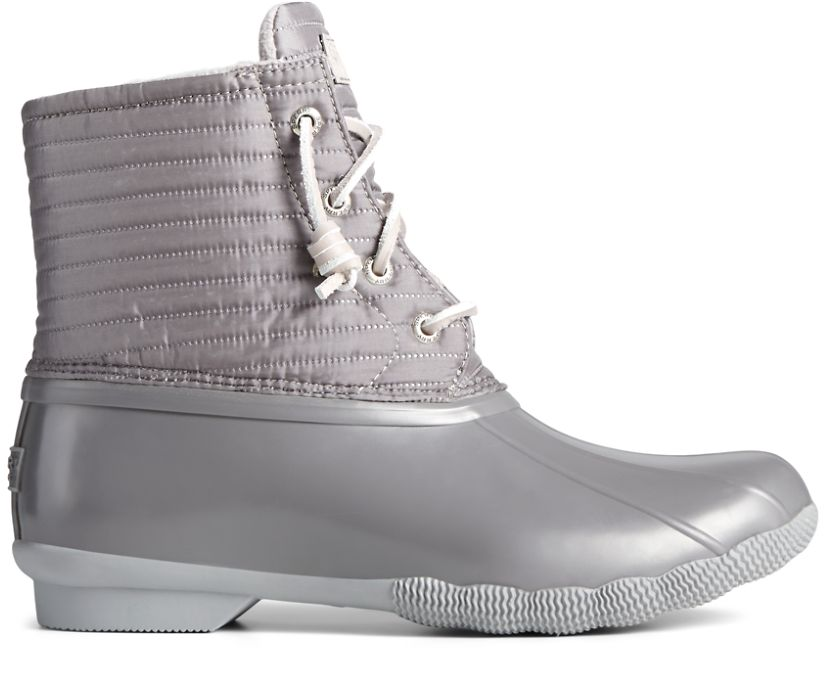 Saltwater Puff Nylon Quilted Duck Boot, Grey, dynamic