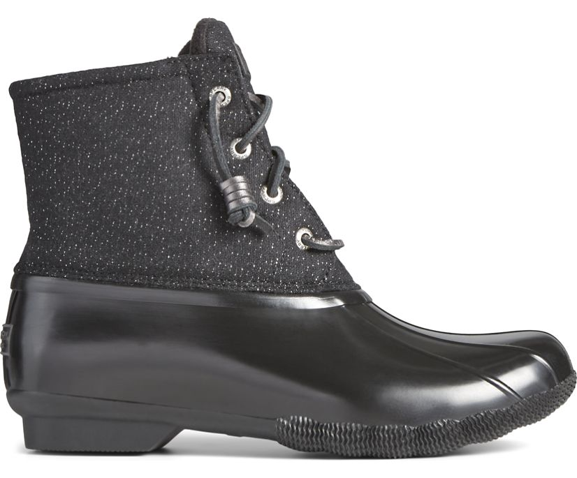 Saltwater Sparkle Textile Duck Boot, Black, dynamic