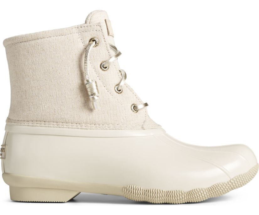 Saltwater Sparkle Textile Duck Boot, Ivory, dynamic