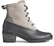 Saltwater Heel Snake Leather Duck Boot, Grey, dynamic