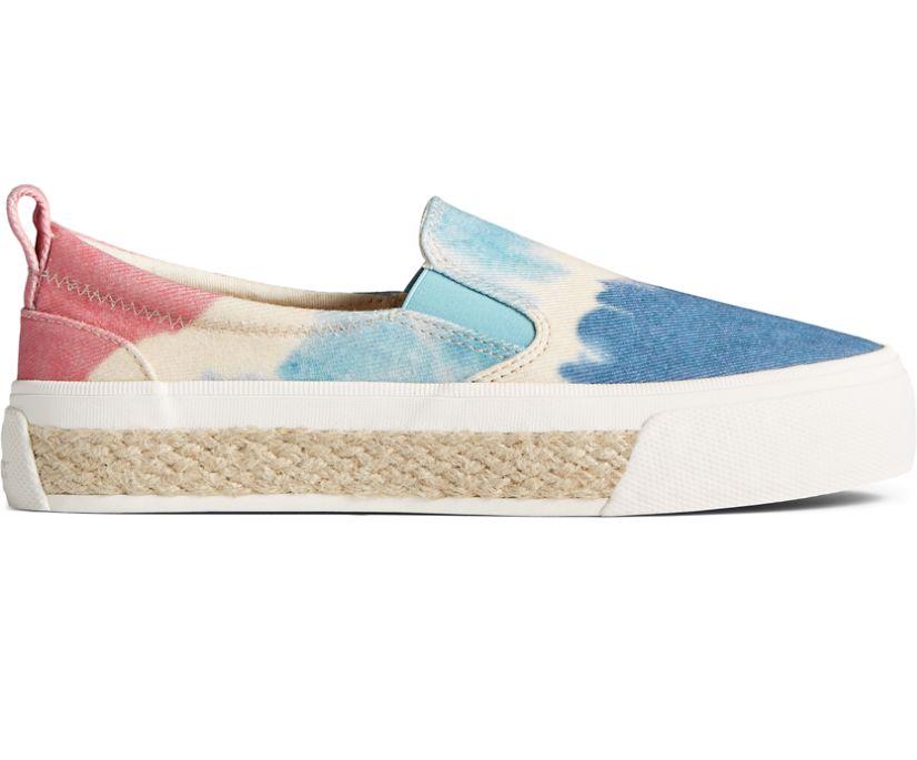 Crest Twin Gore Tie Dye Platform Slip On Sneaker, Blue Multi, dynamic