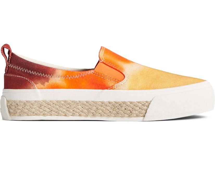 Crest Twin Gore Tie Dye Platform Slip On Sneaker, Orange Multi, dynamic