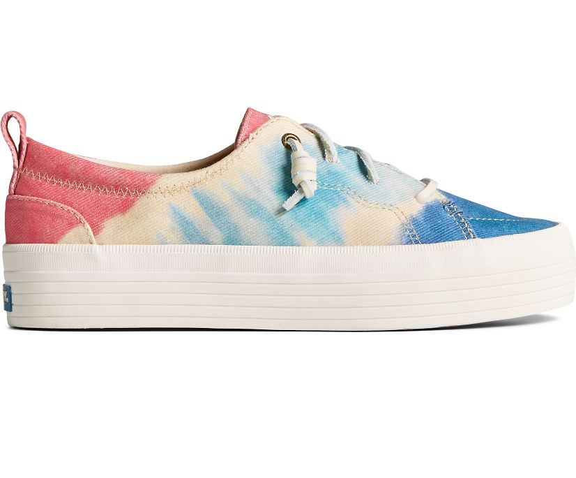 Crest Vibe Platform Tie Dye Sneaker, Navy Multi, dynamic