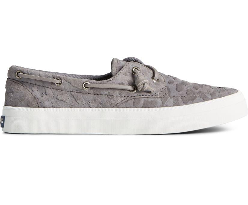 Crest Boat Cheetah Suede Sneaker, Grey, dynamic