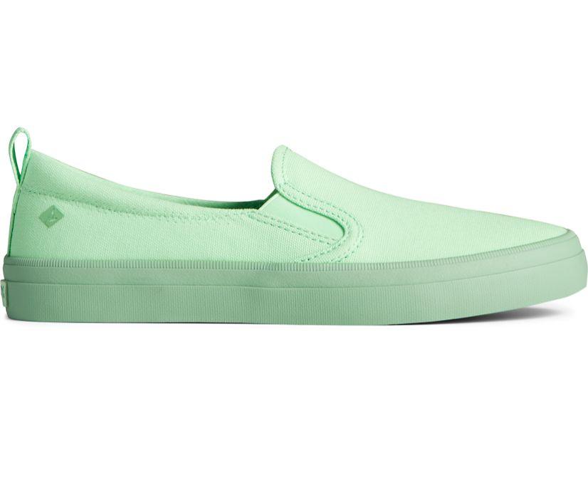 Crest Twin Gore Pastel Canvas Slip On Sneaker, Green, dynamic