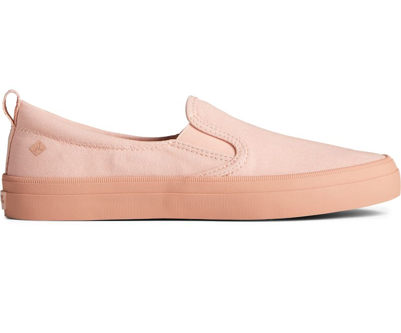 Crest Twin Gore Pastel Canvas Slip On Sneaker, Pink, dynamic