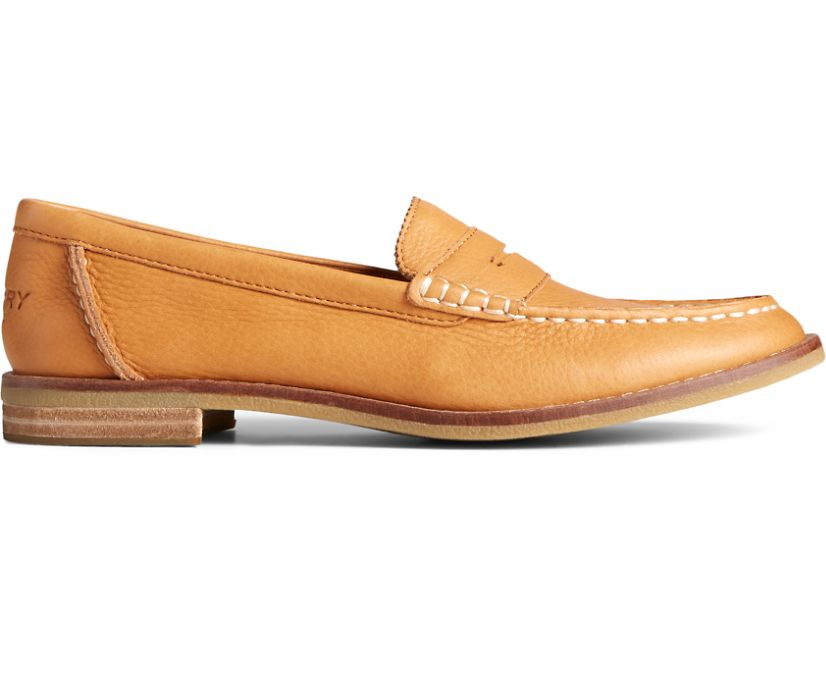 Seaport Penny Leather Loafer, Tan, dynamic