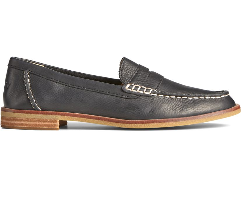 Seaport Penny Leather Loafer, Black, dynamic