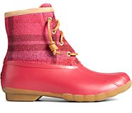 Saltwater Plaid Wool Duck Boot, Red, dynamic