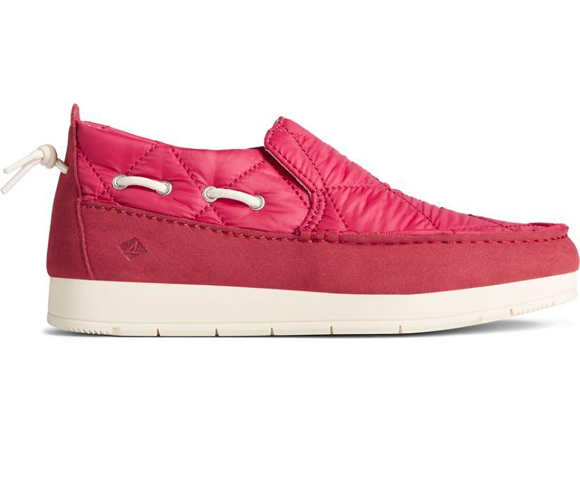 Moc-Sider Nylon Slip On, Red, dynamic