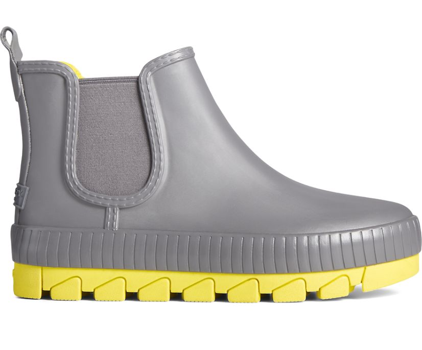 Torrent Pop Chelsea Rain Boot, Grey/Yellow, dynamic