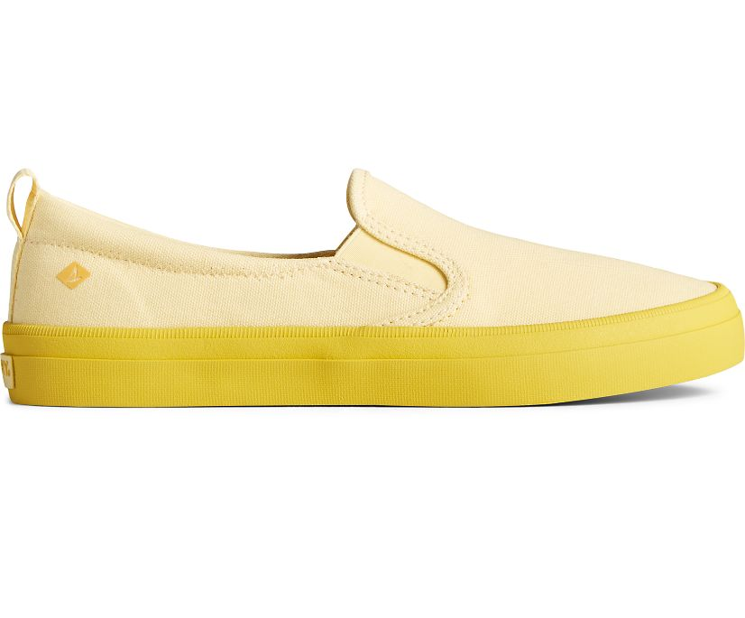 Crest Twin Gore Pastel Canvas Slip On Sneaker, Yellow, dynamic