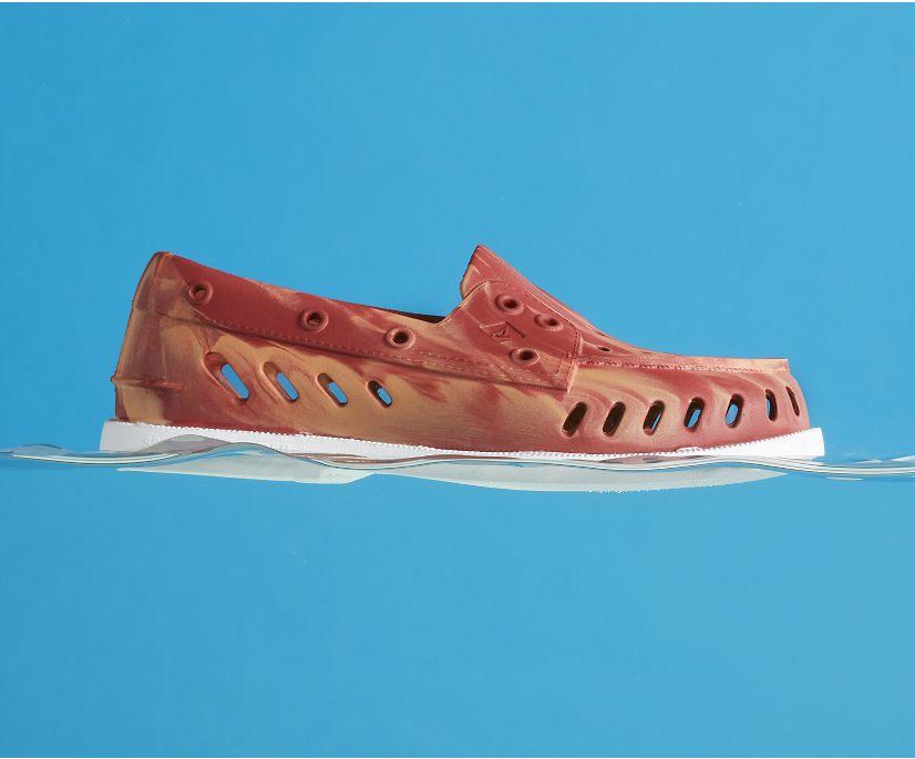 Authentic Original Float Marbled Boat Shoe, Orange Multi, dynamic