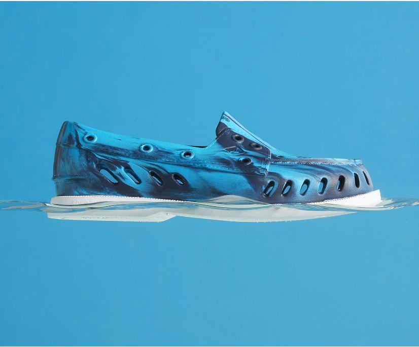 Authentic Original Float Marbled Boat Shoe, Blue Multi, dynamic