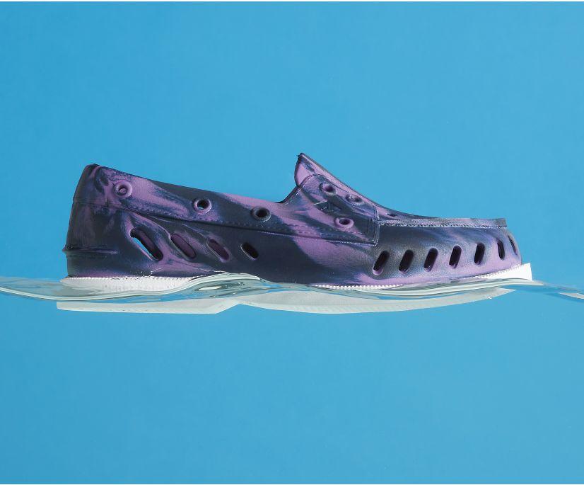 Authentic Original Float Marbled Boat Shoe, Purple Multi, dynamic