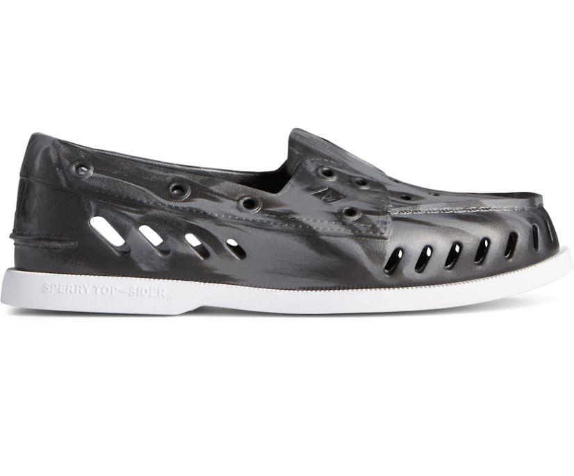 Authentic Original Float Marbled Boat Shoe, Black Multi, dynamic