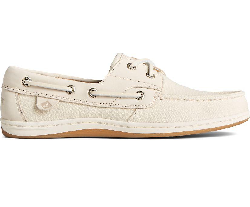 Koifish Textile Boat Shoe, Ivory, dynamic
