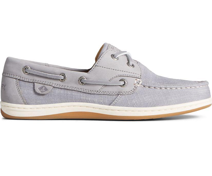 Koifish Textile Boat Shoe, Grey, dynamic