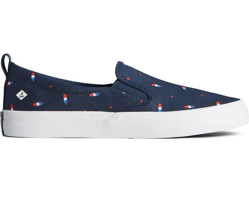 Sperry x Popsicle® Firecracker® Crest Twin Gore Sneaker, Navy Popsicle, dynamic