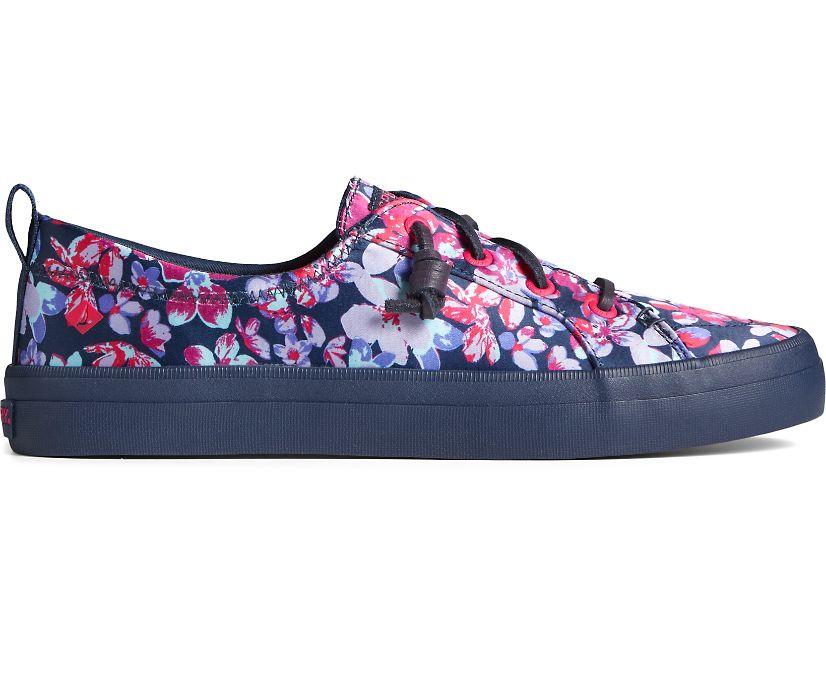 Crest Vibe Floral Tokyo Sneaker, Navy, dynamic
