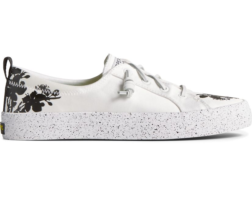 Crest Vibe Floral Tokyo Sneaker, White, dynamic