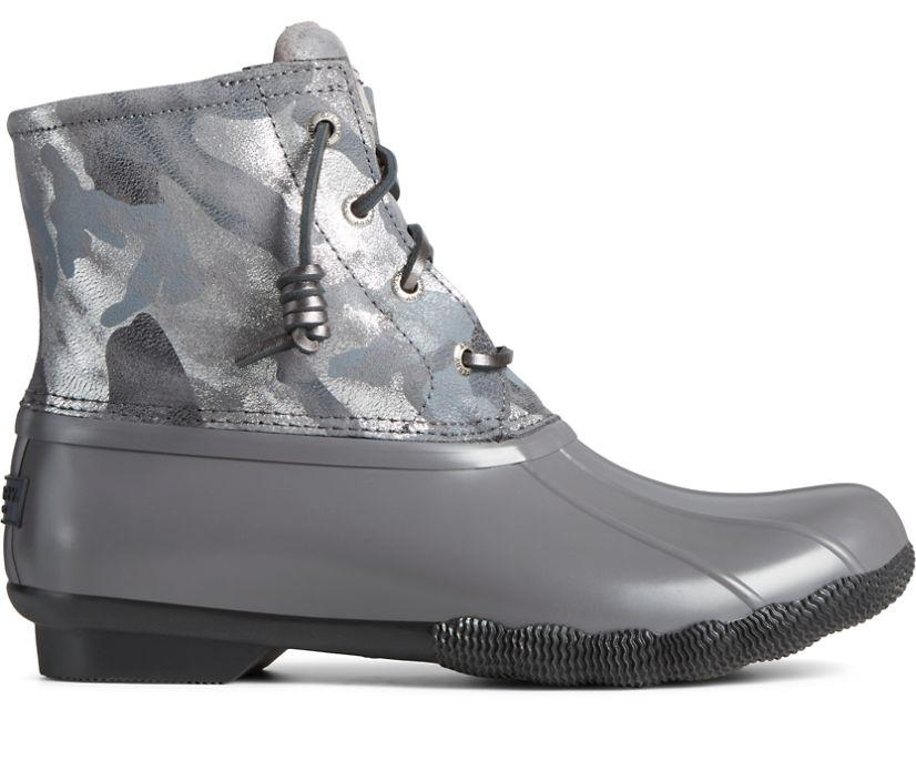 Saltwater Metallic Camo Duck Boot, Grey, dynamic
