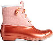 Saltwater Metallic Textile Duck Boot, Pink, dynamic