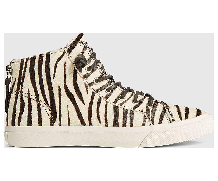 Sperry x Rebecca Minkoff High Top Sneaker, Zebra, dynamic