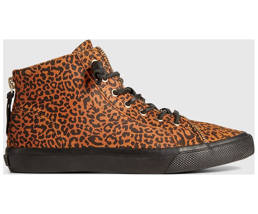 Sperry x Rebecca Minkoff High Top Sneaker, Leopard, dynamic