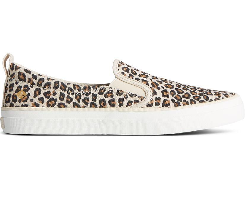 Crest Twin Gore Animal Print Slip On Sneaker, Tan, dynamic
