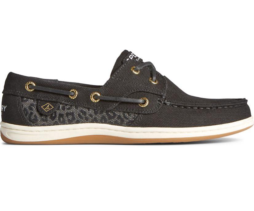 Koifish Animal Print Boat Shoe, Black, dynamic