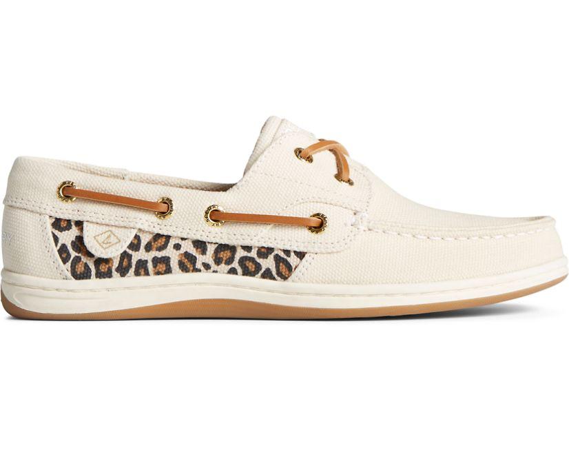 Koifish Animal Print Boat Shoe, Tan, dynamic