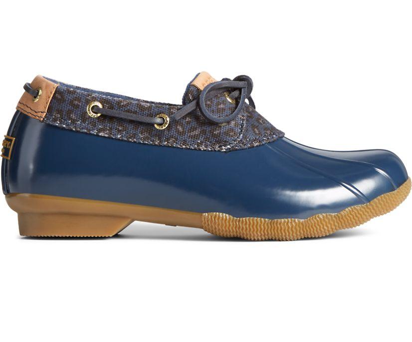 Saltwater Cheetah 1-Eye Duck Boot, Navy, dynamic