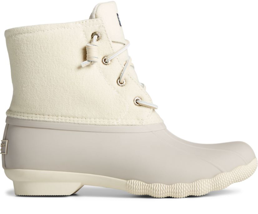 Saltwater Wool Duck Boot, Ivory, dynamic