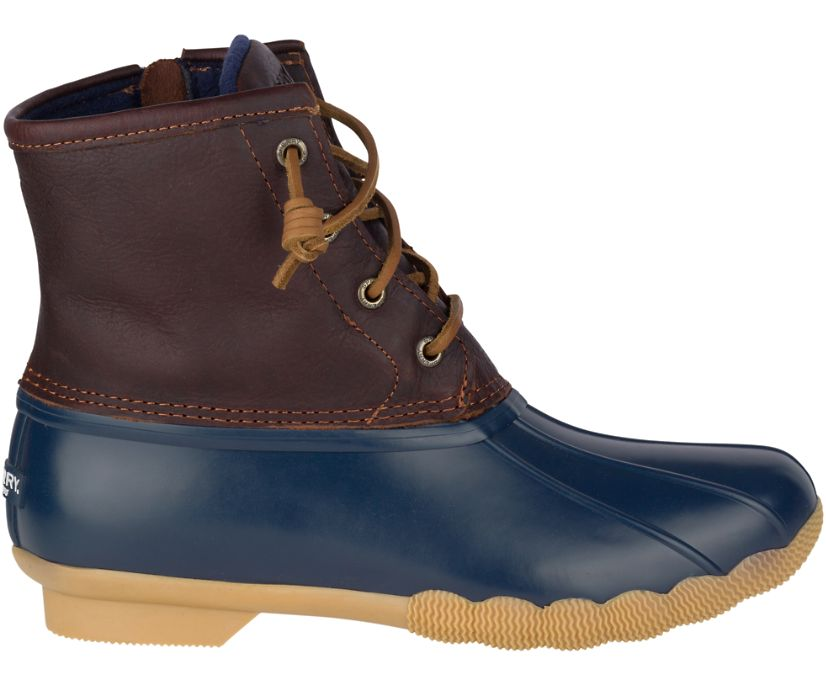 Saltwater Duck Boot, Tan / Navy, dynamic