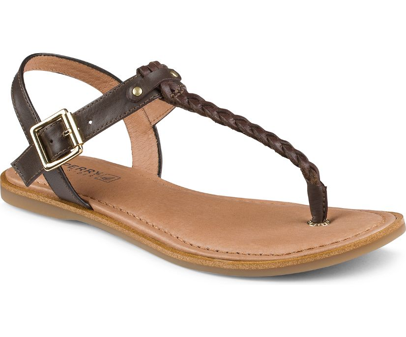 Virginia Braided Thong Sandal, Brown, dynamic