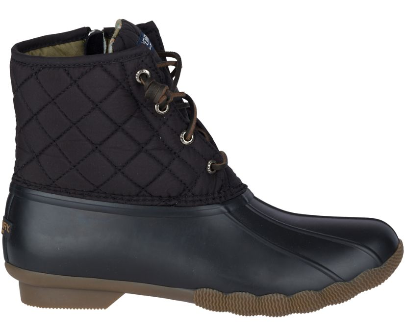 Saltwater Quilted Duck Boot, Black, dynamic