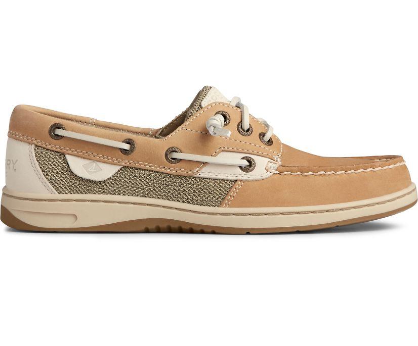 Rosefish 3-Eye Boat Shoe, Linen/Oat, dynamic